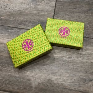 Two Tory Burch boxes
